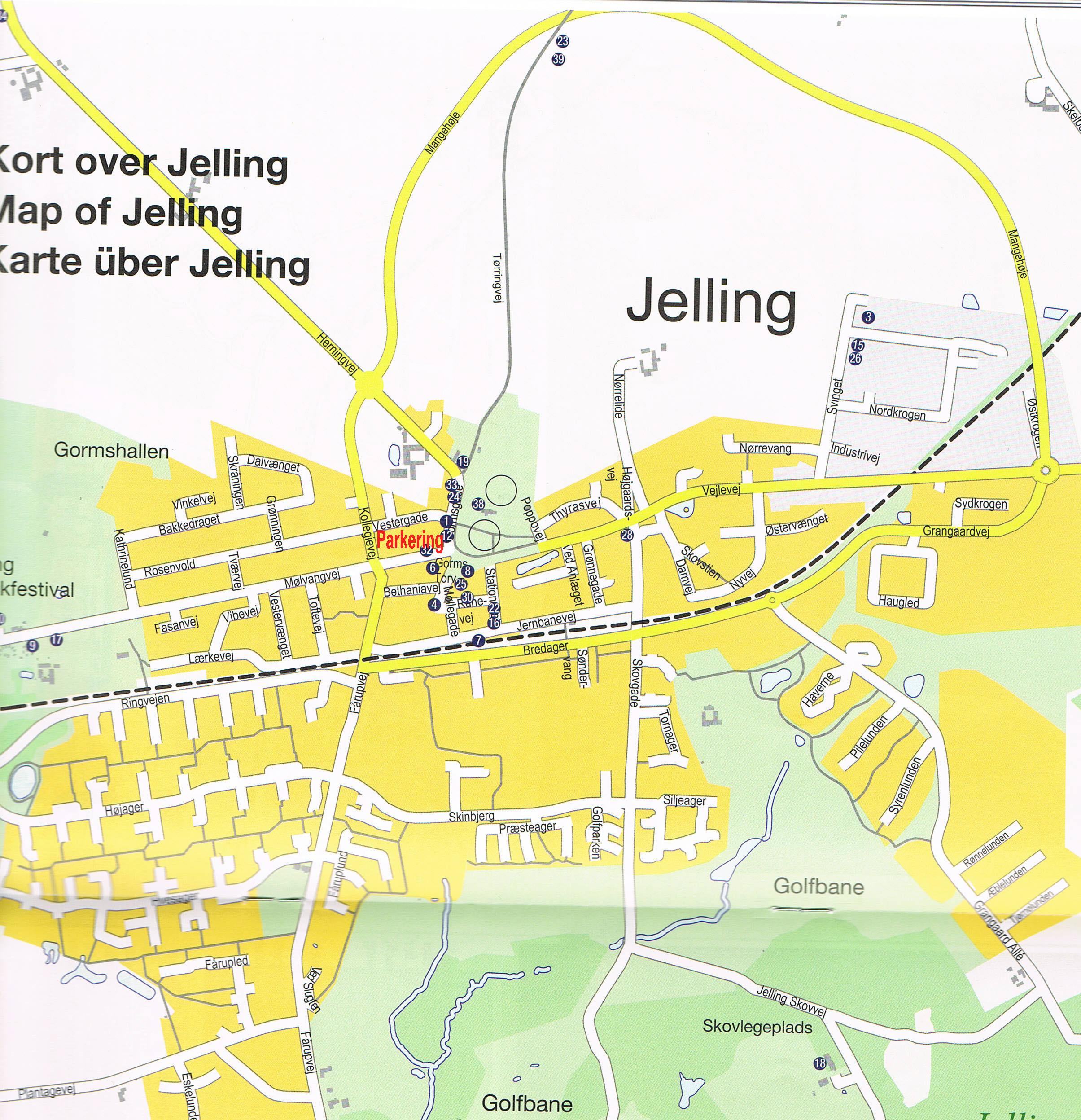 Kort Over Jelling