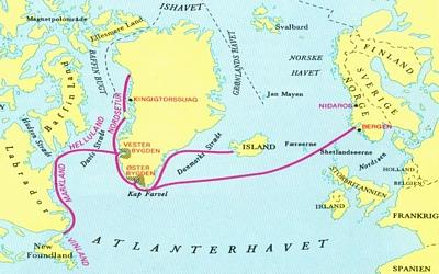 hvor sejlede vikingerne hen
